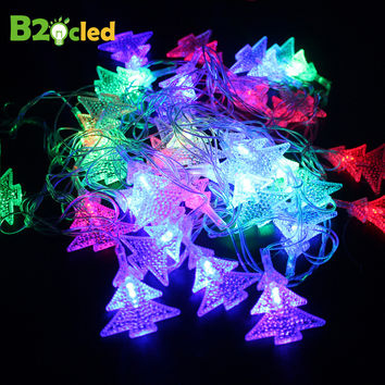 2016 Christmas Holiday Lighting light garland LED string light 5 style 8 modes flash Snowflake Snowball Bell Christmas tree star