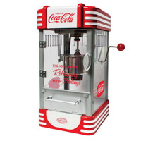Coca-Cola Series Kettle Popcorn Maker 2.5 Oz. with Built-In Stirring System
