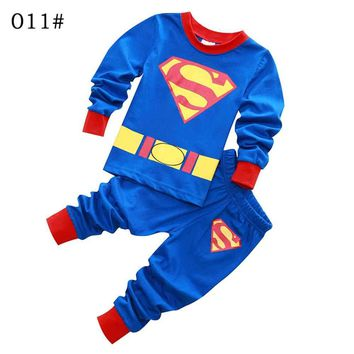 Brand Boys Sleepwear Clothes Kids Batman Pajamas Set Children's Clothing Set Baby Boy Cartoon Pijamas Kids Spring Autumn Pyjamas