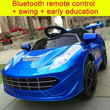 Children Electric Ride on Car Large Electric Baby Toy Car Electric Cars for Kids To Ride Four Wheels Ride on RC Car1-5Y