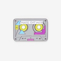 Laser Kitten Make Out Mix Tape Pin