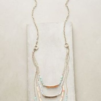 Fringed Terrace Necklace by Anthropologie in Mint Size: One Size Necklaces