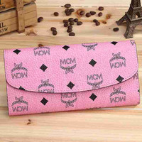 MCM Women Leather Purse Wallet