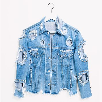 One a Kind Vintage Starr Jeans Denim Jacket