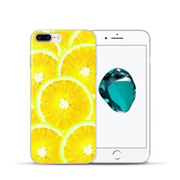 Summer Fruit Lemon Watermelon Pattern Cell Phone Case For iPhone