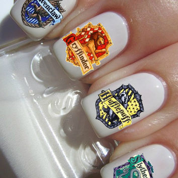 Gryffindor Slytherin Ravenclaw Hufflepuff Nail Decals