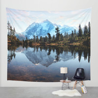 Mt Shuksan Wall Tapestry by Sylvia Cook Photography