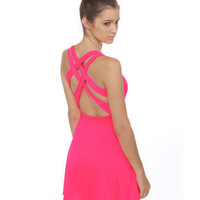 Darling Pink Dress - Neon Dress - $37.00