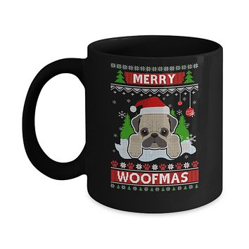 Pug Merry Woofmas Ugly Christmas Sweater Mug