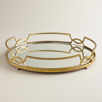 Gold Mirrored Tabletop Tray - World Market