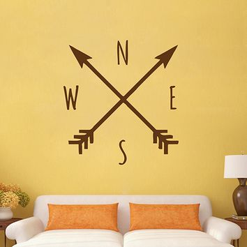 ik2926 Wall Decal Sticker arrow boho style bedroom living room