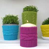 Knitted Vase Cosies