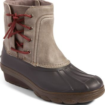 Sperry Saltwater Spray Wedge Waterproof Rain Boot (Women) | Nordstrom