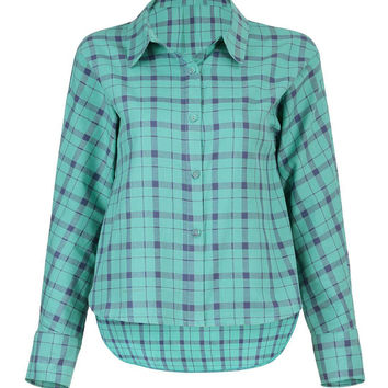 Sky Blue Shirt in Check Print