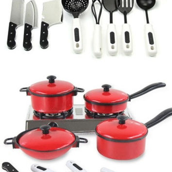 Vogue Kid Play House Toys Pots and Pans Utensils Simulation Kitchenware HOT FMUS--toys = 1945699844