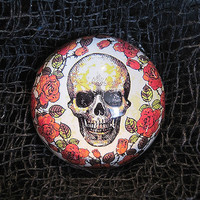 Skull and Roses Paperweight