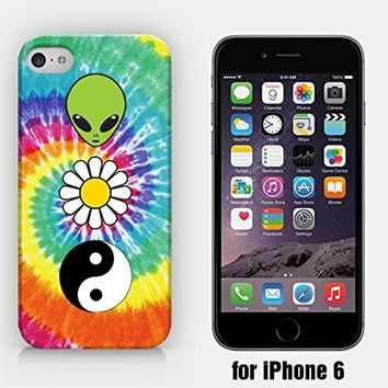 for iPhone 6 - Alien - Daisy - YinYang - Tie Dye - Hipster - Ship from Vietnam - US Registered Brand