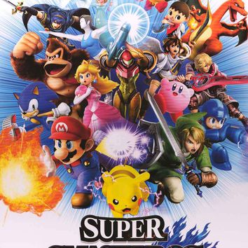 Super Smash Bros Video Game Poster 24x36