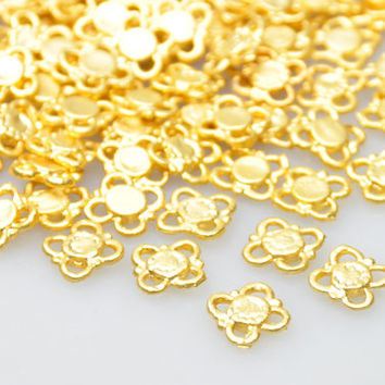10 Pieces Gold Plated Jewelry Connectors, Matte Gold Jewelry, Jewelry Making Supply