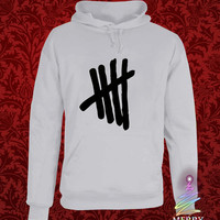 5sos logo heppy hoodie in heppy new year and merry christmas.
