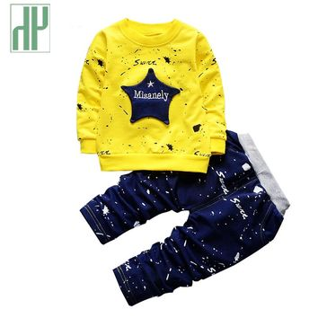 Spring Kids Clothes Star printing hip hop costume for girls children clothing Full Length Cotton Casual toddler boys clothing