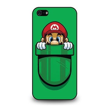 MARIO BROSS POCKET PLUMBER iPhone 5 / 5S / SE Case Cover