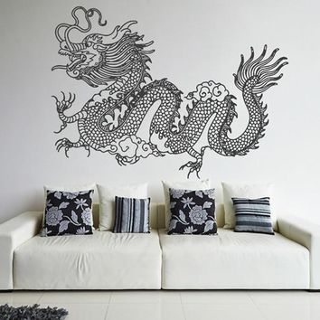 ik1604 Wall Decal Sticker Dragon mythical animal living bedroom teens