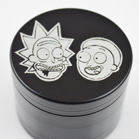 "Rick And Morty 2.2"" Laser Etched 4 Piece Metal Herb Grinder"