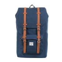 Herschel Supply Co. Little America Rubber Backpack, Navy/Natural, One Size