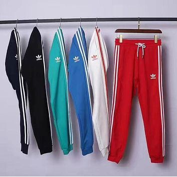 simpleclothesv : Adidas Fashion Casual Stripe Drawstring Sport Running Pants Trousers Sweatpants