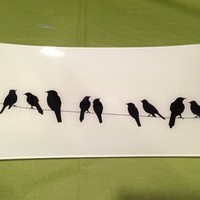 Birds on a Wire Platter