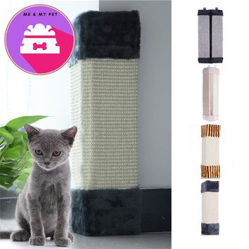 Cat Scratches Board Pet Kitten Wall Corner Scratching Mat Post Tree Scratcher Sisal Hemp Kitty Pet Plush Flying Toys Hot Sale