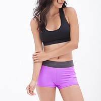 FOREVER 21 Colorblock Performance Shorts