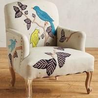 Treescape Dorrance Chair, Birds by Anthropologie in Neutral Motif Size: One Size Furniture