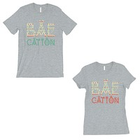 BAEcation Vacation Matching Couple T-Shirts Gift Grey For Newlywed