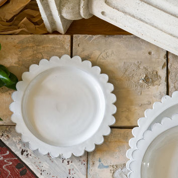 Corolla - Fancy White Ceramic Side Plate