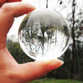 1Pc Asian Rare Natural Quartz Pure Clear Magic Glass Crystal Healing Ball Sphere 40mm+Stand Home Decoration