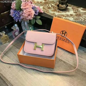 Hermes Women Fashion Leather Satchel Bag Shoulder Bag Crossbody