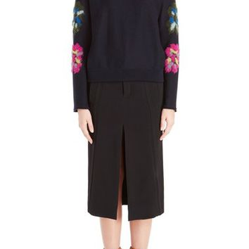 Chloé Floral Knit Wool Blend Sweater | Nordstrom