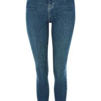 Topshop Moto Authentic High Rise Jamie Skinny Jeans Jeans - Blue