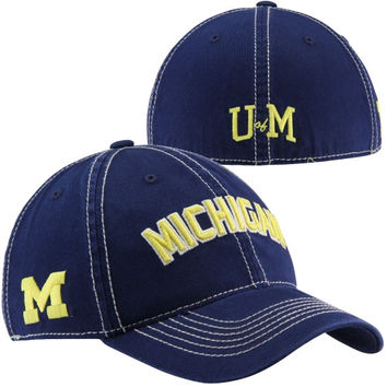 Top of the World Michigan Wolverines Triple Header One-Fit Hat - Navy Blue