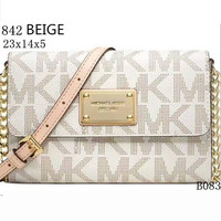 MICHAEL KORS Lash package Woman shopping leather metal chain shoulder bag B-LLBPFSH Beige