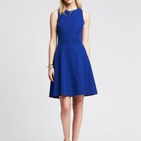 Banana Republic Womens Sloan Fit And Flare Dress