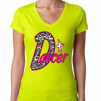 Dancer White Leopard women's sporty V