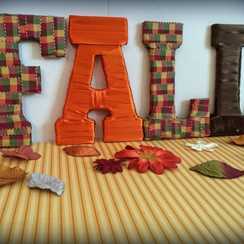 Fall Decor Decorative Letter Set by Tightly Wound Designs