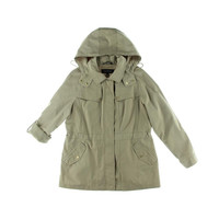 Jones New York Womens Water Resistant Lightweight Windbreaker Jacket