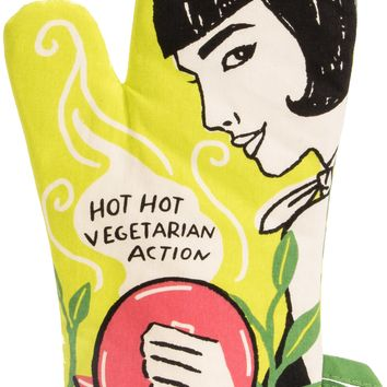 Hot Hot Vegetarian Action Oven Mitt