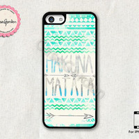 HAKUNA MATATA iPhone 5C Case, iPhone Case, iPhone Hard Case, iPhone 5C Cover