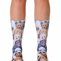 Living Royal | Living Royal - Puppy All Over Crew Socks » West Of Camden