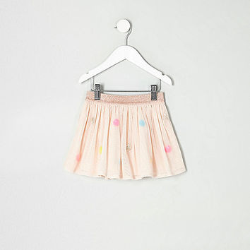 Mini girls cream mesh sequin spot tutu skirt - baby girls skirts - baby girls bottoms - mini girls - girls